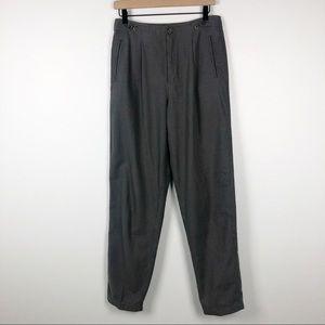 Vintage lizwear windowpane pleated trousers M